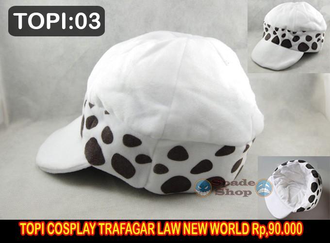 harga Topi trafalgar d matel law new word, topi cosplay one piece Tokopedia.com