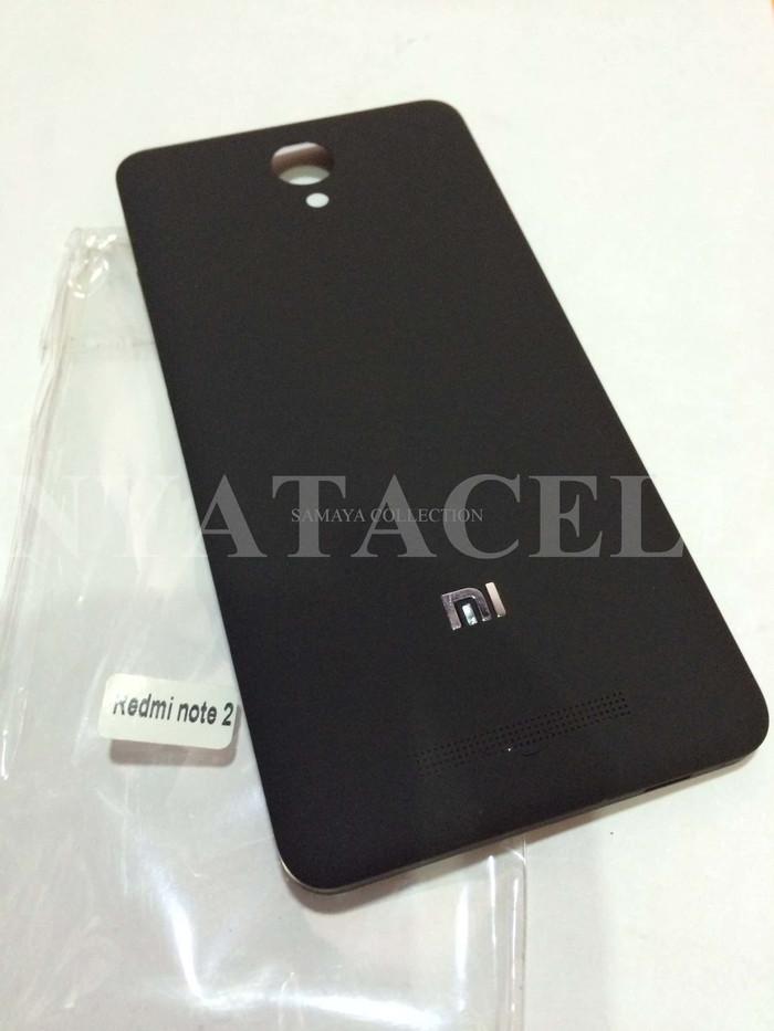 Black Source Back Door Xiaomi Redmi Note 2 Backdoor Tutup Casing Belakang Baterai .