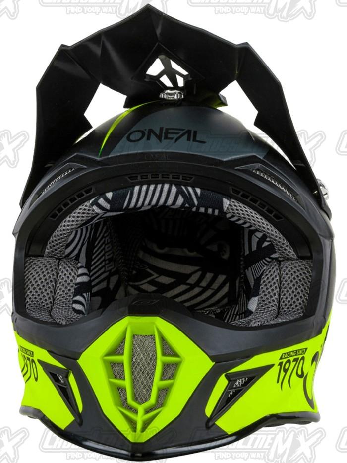 Helm Cross Oneal 10 Series Flow Black Neon / HELMET O'NEAL 1