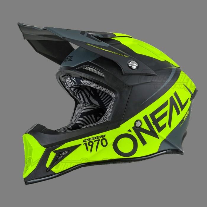 Helm Cross Oneal 10 Series Flow Black Neon / HELMET O'NEAL 3