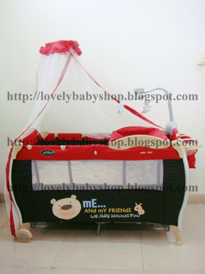 harga Bb24 # tempat tidur baby box bayi pliko xl merah coklat kelambu lipat Tokopedia.com