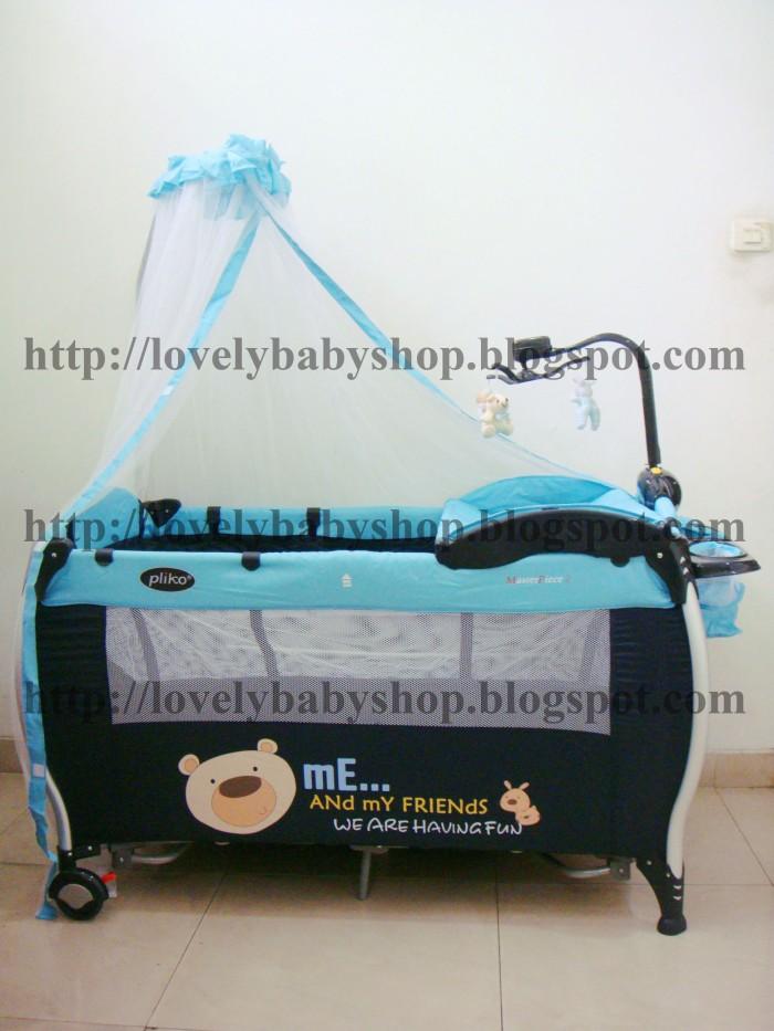 harga Bb25 # tempat tidur baby box bayi pliko xl biru mainan gantung roda Tokopedia.com