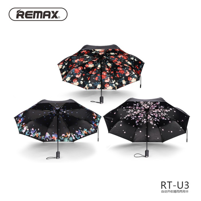 harga Original remax rt-u3 automatic umbrella payung lipat mini otomatis Tokopedia.com