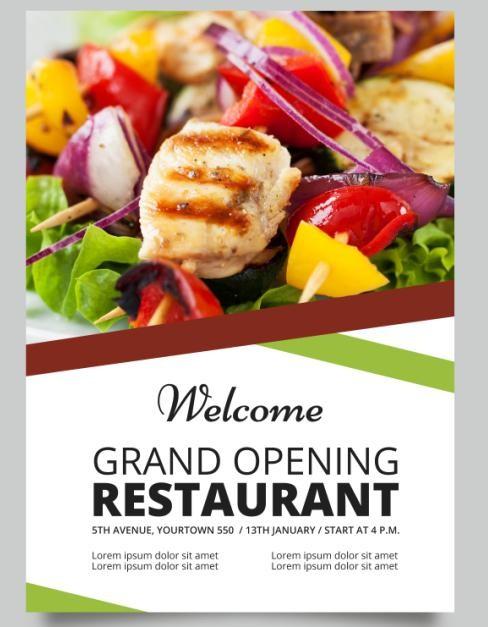 Jual Brosur Flyer A5 1 Muka Restoran Makanan Food Produk Tutu