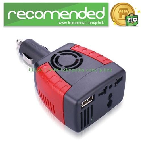 harga Compact power car inverter 150w 220v ac eu plug and 5v usb charger - b Tokopedia.com