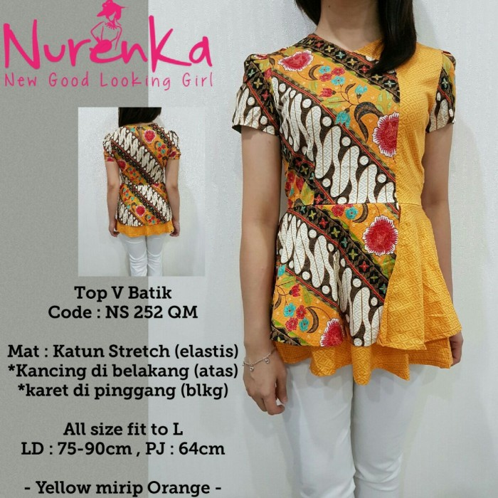 Jual Baju Batik Wanita   Atasan Batik Wanita   Batik Kerja   Batik ... 425cad2aa7