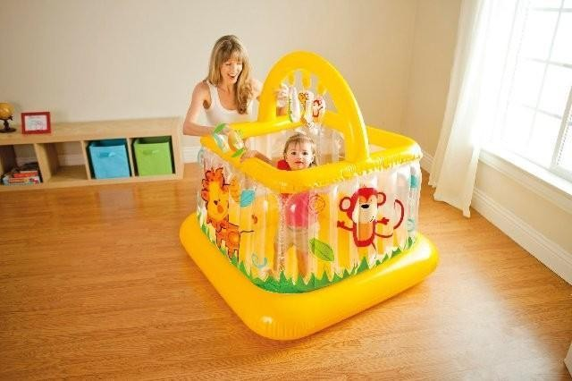 harga Intex soft side lil baby gym. pagar main & mainan trampolin anak bayi Tokopedia.com