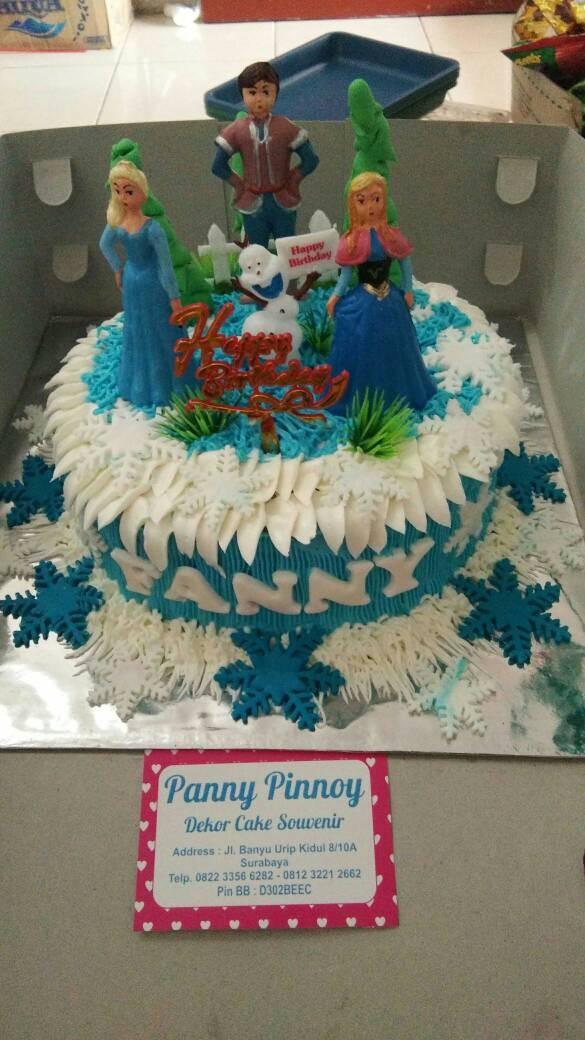 Jual Tart Ulang Tahun Butter Cream Foundant Thema Frozen Full Toys Kota Surabaya Pannypinoypancake Tokopedia