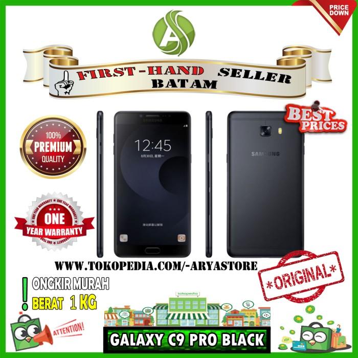 SAMSUNG GALAXY C9 PRO BLACK 6GB 64GB | BRANDNEW | ORIGINAL | ARYASTORE - Hitam