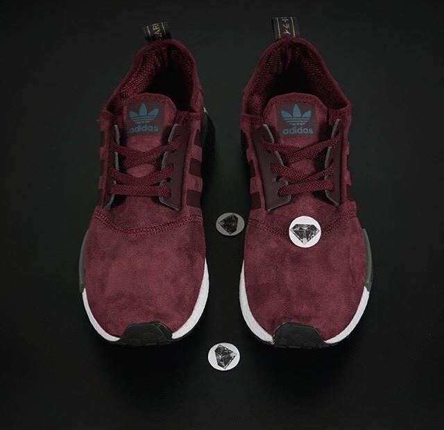 cebcf2dd7 Jual sepatu adidas NMD suede red burgundy merah maroon biru - Kota ...