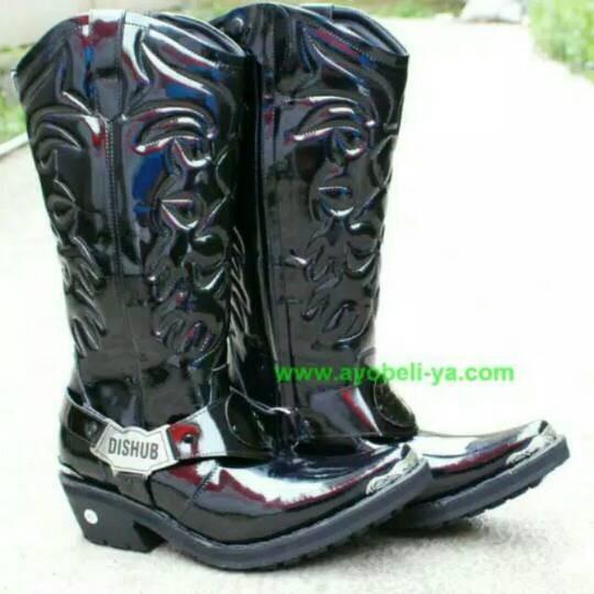 harga Sepatu tunggang polantas boot tinggi Tokopedia.com