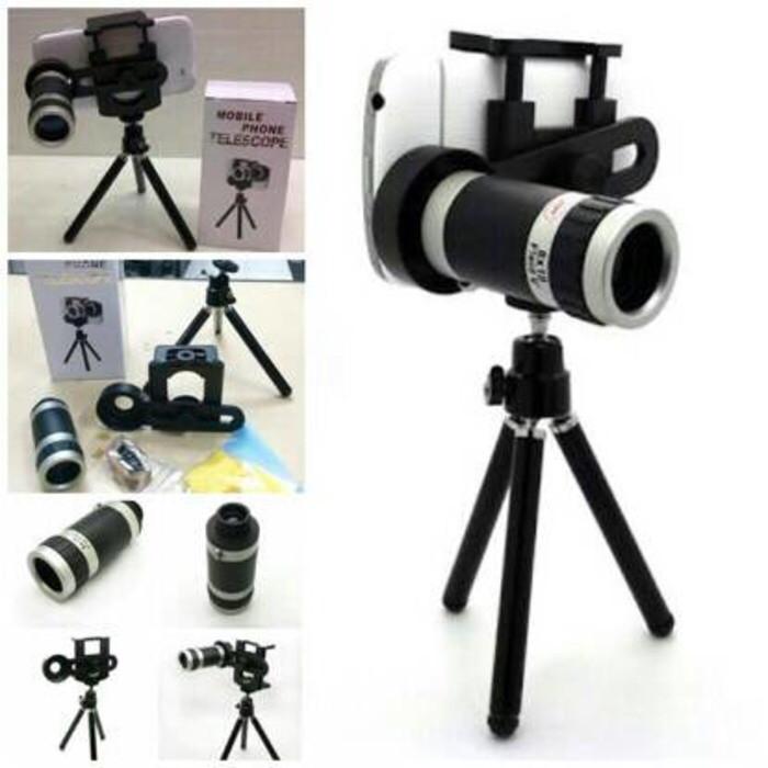 harga Tele zoom telescope 8x + tripod mini universal Tokopedia.com
