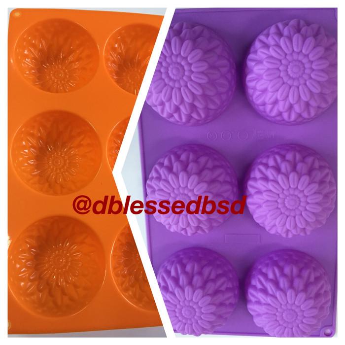 Loyang silikon kue puding ager jelly bento coklat (cetakan)