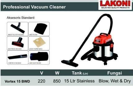 harga Lakoni vakum vacum vacuum cleaner vortex 15 bwd vortex15 wet & dry Tokopedia.com
