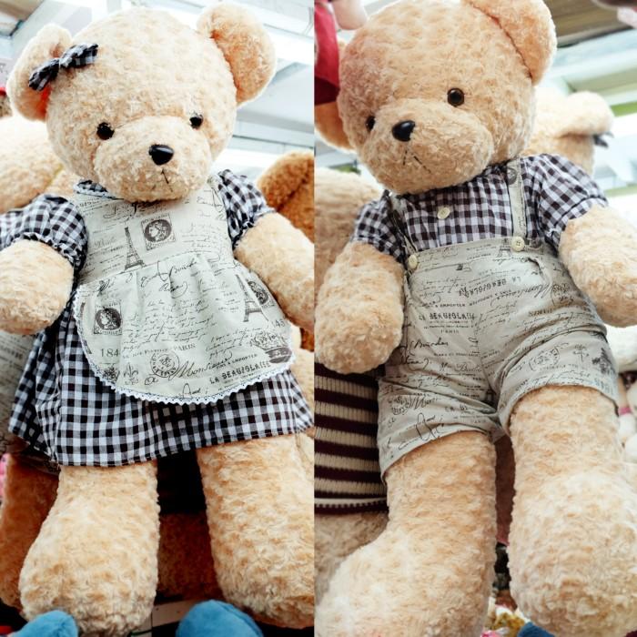 boneka teddy bear rompi impor 1meter giant jumbo big couple teddy hous ea5c0ed108