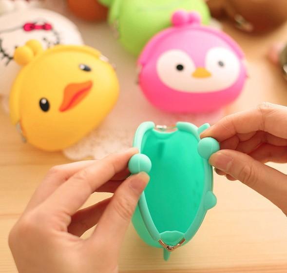Jual dompet kecil lucu imut karet silicon korean cute