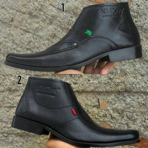 harga Sepatu kickers k015  pantofel boots kulit Tokopedia.com
