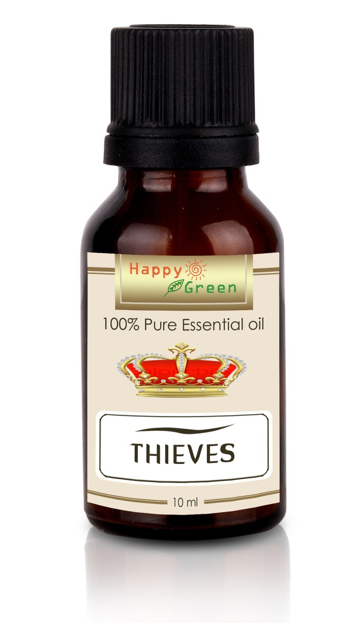 Foto Produk Happy Green Original Thieves Essential Oil 10 ml - Minyak u/ imunitas dari Happy Green Garden - JKT