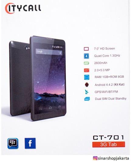 harga Tablet citycall ct-701- dual sim - 7 inch Tokopedia.com