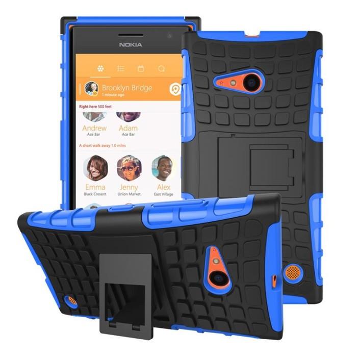 harga Softcase armor nokia lumia 730 / 735 casing cover case silicone hard Tokopedia.com