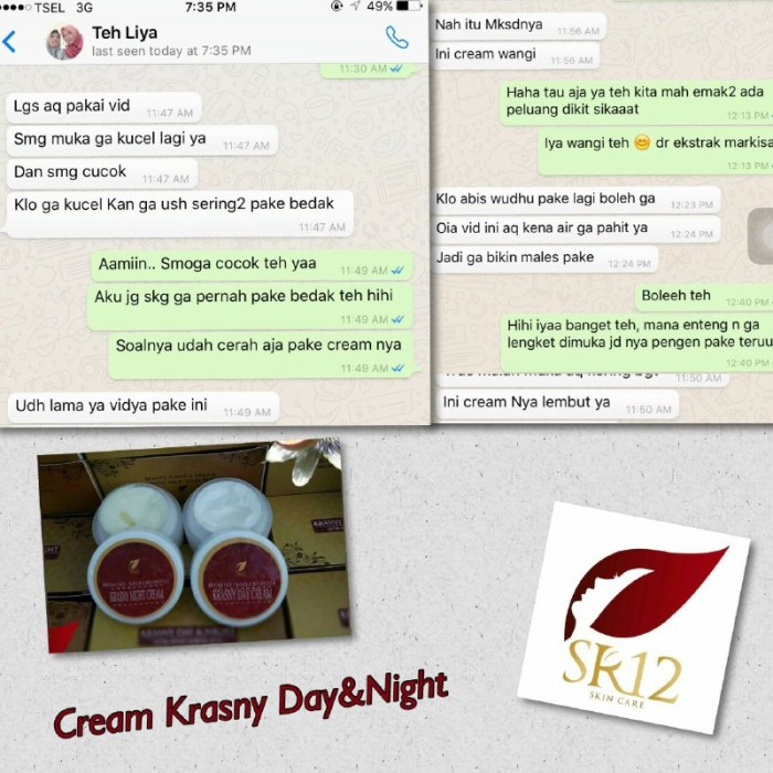 SR12 Krasny Day & Night Cream 24gr/Krim perawatan wajah