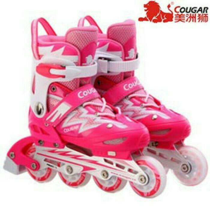 harga Sepatu roda inline skate merk cougar Tokopedia.com