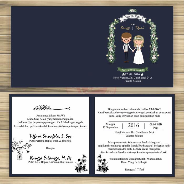 Jual Surat Undangan Pernikahan Shaby Elegan Full Colour Kab Serang Galericapries Tokopedia