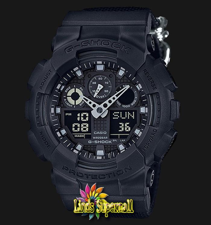 Jual Jam Tangan Pria Casio G-Shock GA 100 BBN 1AJF Black Resin Band ... d8da5709c0