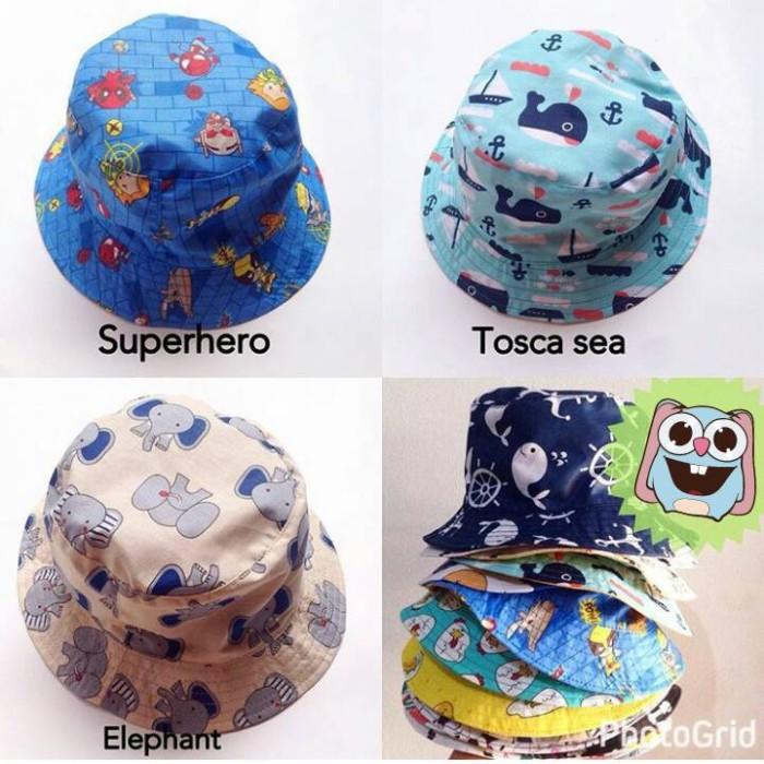 Jual Bucket Hat   Topi anak lakilaki perempuan   lucu unik murah - C ... a1d448ebe2