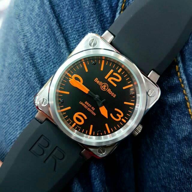 harga Jam tangan pria merk bell & ross type : 1555 otomatis Tokopedia.com