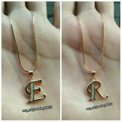harga 1 set kalung+liontin perak 925 lapis emas kuning Tokopedia.com