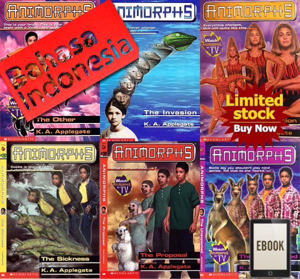 harga Ebook buku novel animorphs complete set bahasa indonesia & inggris Tokopedia.com
