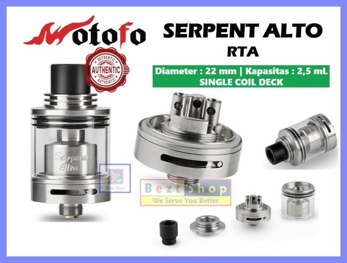 Jual Serpent Alto 22 mm RTA | SINGLE COIL | Wotofo | AUTHENTIC | VAPE RTA S  - Jakarta Barat - vape world | Tokopedia