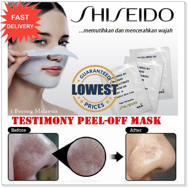 Index of visuels Source · SHISEIDO WHITE MASK Shiseido Blackhead Nose Remover Mask Whitening