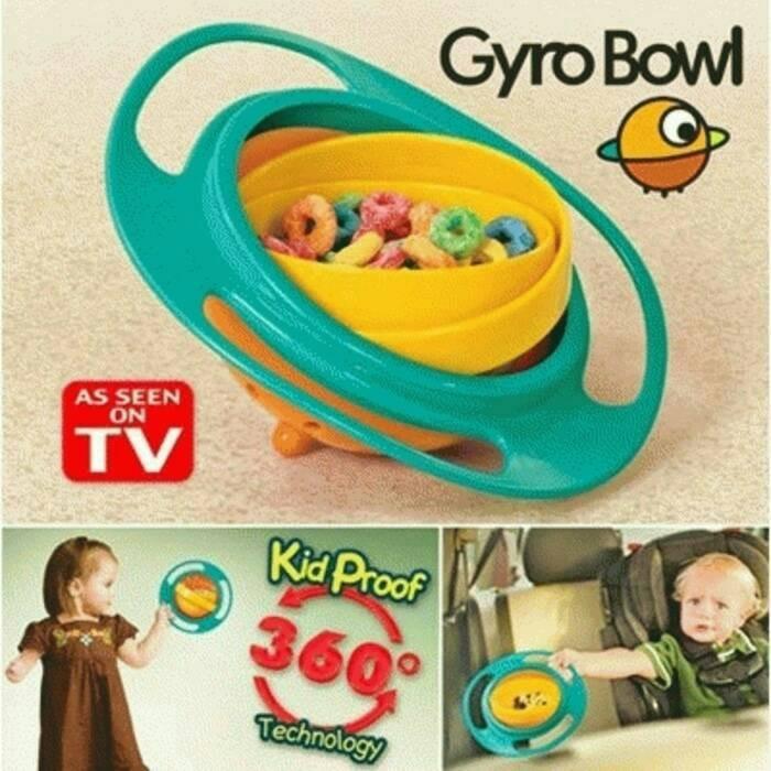 Gyro Bowl - Mangkok Anti Tumpah Untuk Anak
