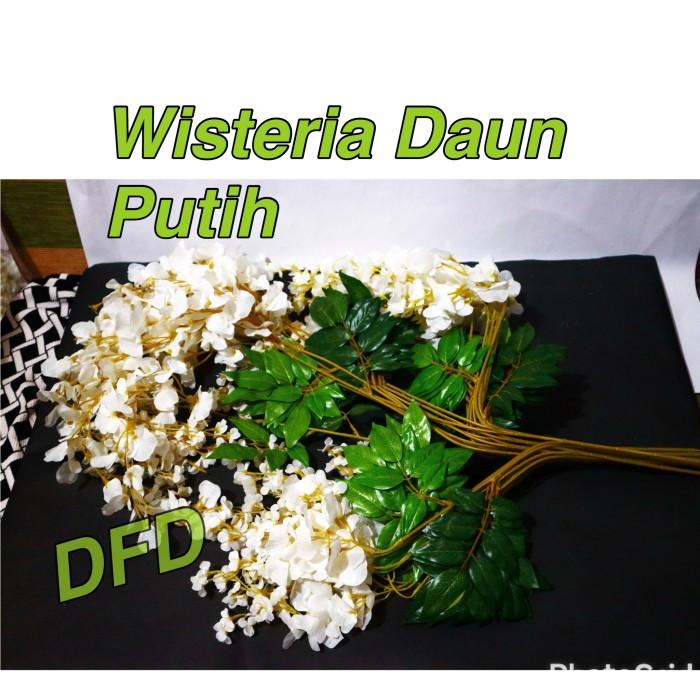 Daun bunga wisteria putih   bunga artificial   bunga plastik harga ... 8b982bff60