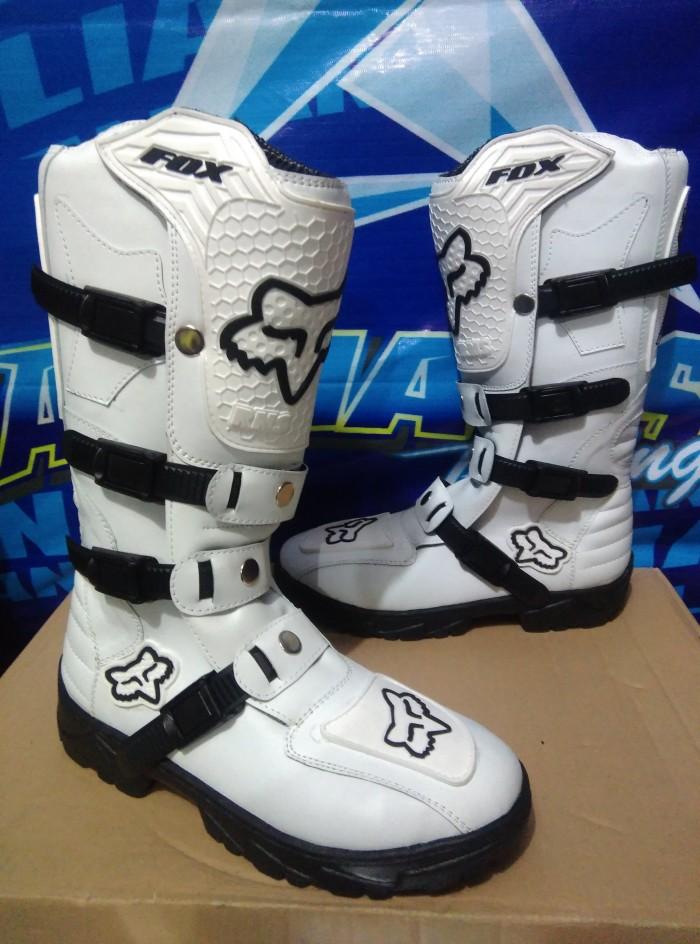 harga Sepatu cross sepatu trail sepatu mx lokal putih Tokopedia.com