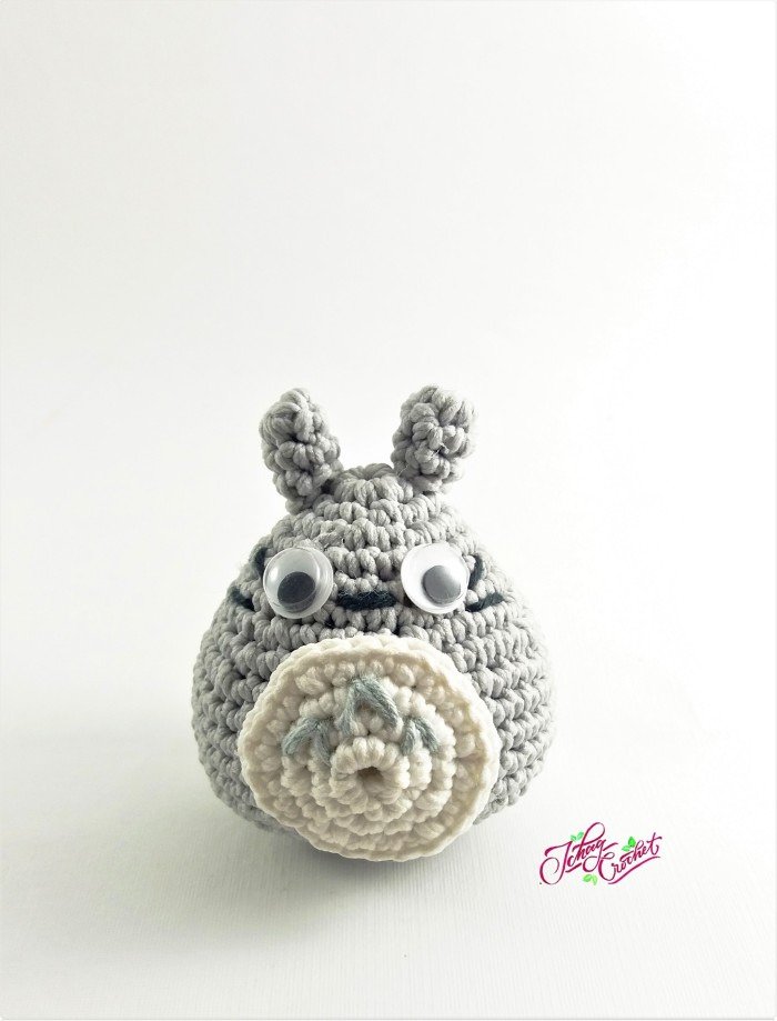 Grey-White Totoro Handmade Amigurumi Stuffed Toy Knit Crochet Doll ... | 919x700