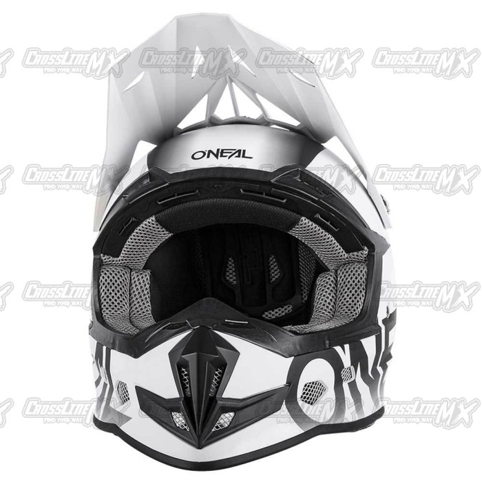 Helm Cross Oneal 5 Series BLOCKER Black White /HELMET O'NEAL Hitam Put 1
