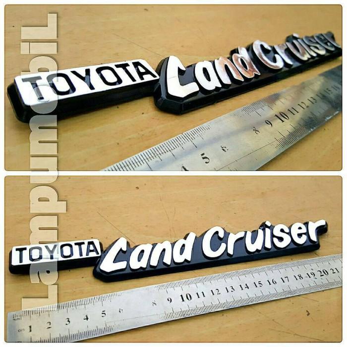 harga Emblem toyota land cruiser untuk mobil toyota hardtop Tokopedia.com