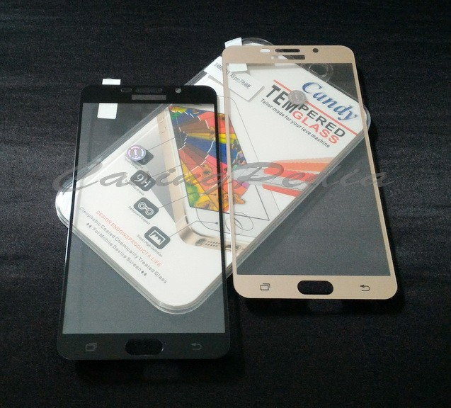 harga Samsung galaxy a9 pro (2016) - anti gores tempered glass colored frame Tokopedia.com