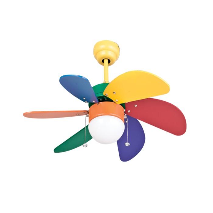 harga Mt edma 30in pilot kipas dekorasi dengan lampu hias - pelangi rainbow Tokopedia.com