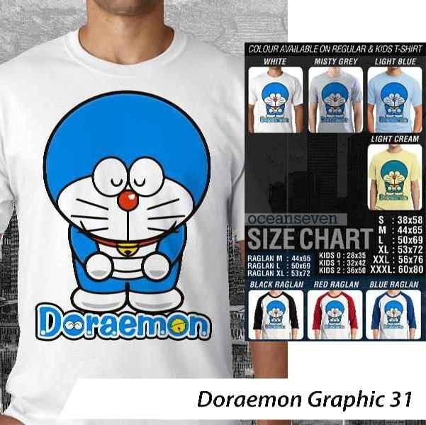 [DISKON] Kaos Doraemon Graphic 31 - Distro Ocean Seven