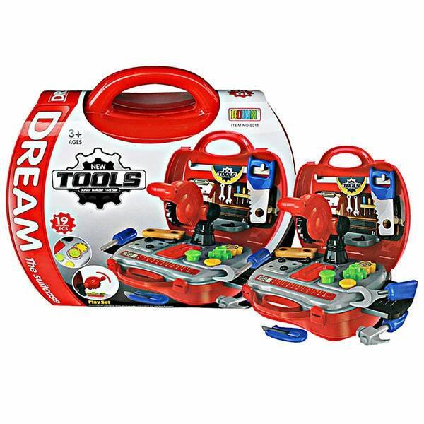 Mainan edukatif anak laki dream koper tools tool set box pertukangan