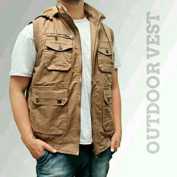 Jual Rompi Jeep Vest Hoodie Fashion Pria Rompi Outdoor Rompi Impor ... 74500a15b5