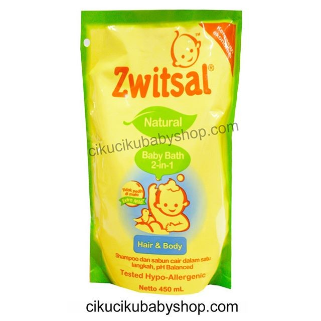 harga Zwitsal natural baby bath hair & body 450ml / sabun bayi Tokopedia.com