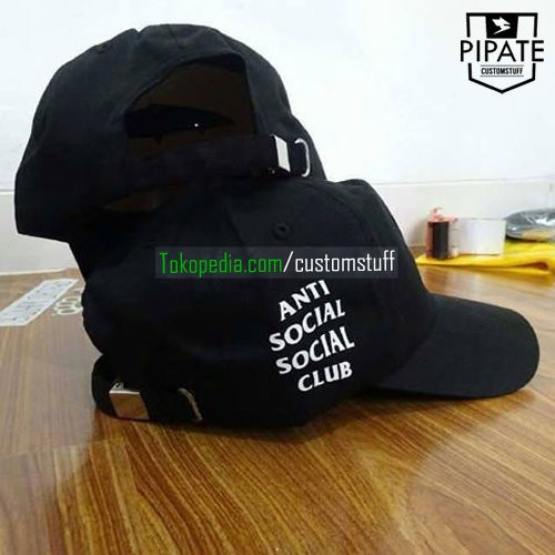 harga Topi assc premium snap metal / besi | topi anti social social club Tokopedia.com