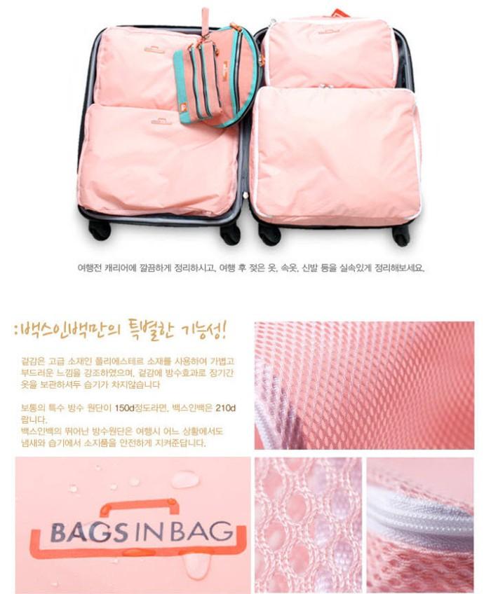 Bags In Bag Travelling 5 In 1 Travel Organizer Tas Set Paket Dapat 5