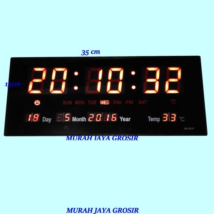 Jual Jam dinding Digital LED 35x15 cm MERAH   adaptor power - murah ... 9ff03e0552