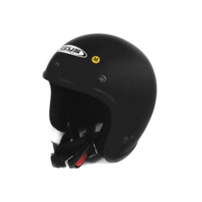 harga Zeus 385 matt black doff hitam dop zs385 m l xl helm retro bogo harley Tokopedia.com